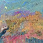 """Landschaft"", 2018, 67x77, Öl auf Leinwand"