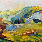 Bergsicht,   120x160,   Öl auf Leinwand,   2016