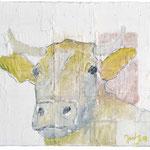 Head III,     34x28,     Acryl, Bleistift auf Leinwand, 2001