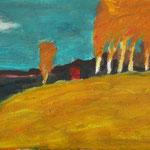 Herbst     27x46,      Öl auf Leinwand, 2007