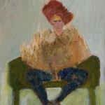 """""""Seated #11"""", 2019, 60x50, Öl auf Leinwand"""