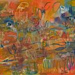 """Komposition (Landschaft)"", 2020, 81x100, Öl auf Leiwand"