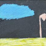 """""""Tiefe (Giraffe)"""", 2017, 20x27, Ölkreide und Ölpastell auf Leinwand"""