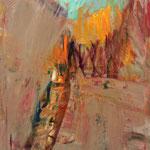 Hinterhof 5,     90x60,     Öl auf Papier, 2015