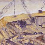 Tagebau I,      60x80,     Öl auf Leinwand, 2012