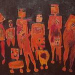 """""""The Gang #5"""", 2021, 50x70, Öl auf Leinwand"""