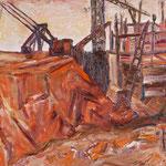 Großbaustelle I,      60x80,     Öl auf Leinwand, 2012