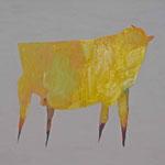 Stier 1,     28x35,     Öl auf Papier, 2014