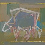 Kuh 9,     35x44,     Öl auf Papier, 2014