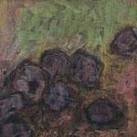 Achsteine VI,     20x20,     Mischtechnik auf Papier, 1996