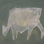 Kuh 7,     35x44,     Öl auf Papier, 2014
