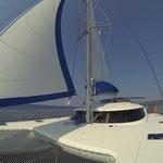 Bahia 46 PINK PENGUIN unter Segel