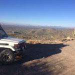 Übernachtungsplatz oberhalb von Tucson