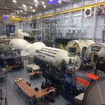 Modelle von Weltraumstationen zum Üben