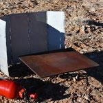 -- mit Windschutz und Eisenplatte