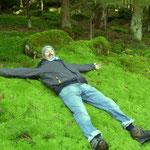 Entspannung auf dem Moos