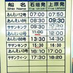 西表島でのツアーに参加する為、朝から出発!8:30のあいえい8号に乗りました