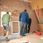 Ausbau Dachboden, Montage Fenster