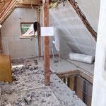Dachboden vor dem Ausbau