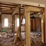Nach Abriss der alten Einbauten