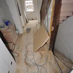 Treppenhaus - Flur während des Umbaus