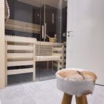 Minisauna im Badbereich