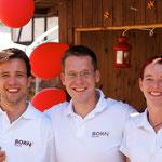 Unser Hoffest-Team: Robert, Rüdiger, Sandra