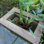 お庭に池を自作