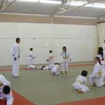週4回の柔道教室での指導風景