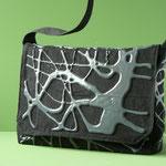 Schlappklappentasche: Denim mit geschäumter Polyurethanbeschichtung