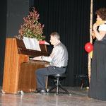 Panflötin Irene Meier und Pianist Urban Meier begeisterten mit Ihrem Auftritt