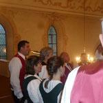 Unser Auftritt in der Kirche