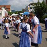 Tänzer während des Festumzuges