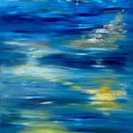 Water rhapsody, 80x120cm, oil, 3D paint on canvas