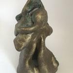 Ex form, 20x20x20cm, painted ceramic