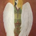 Guardian angel, 60x80cm, oil, 3D paint on canvas