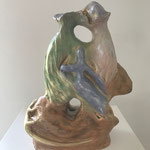 Romance, 25x20x20cm, painted ceramic