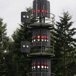 Signalmast in einer Kanalweiche