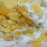 Pellkartoffeln mit Schnittlauch Creme fraîche