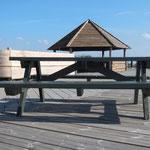 Grillbänke im Faaborger Yachthafen