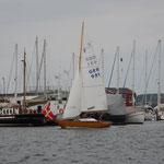 Folkeboot läuft aus zur Regatta Svendborg Classics