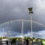 Regenbogen über der Schlei