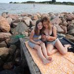 Dänische Freundinnen- Foto von Chiara