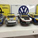 Michaels Viper neben den Audi R8 von Uli und Kai.