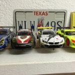 Links der Mercedes SLS vom drittplatzierten Karl neben Mikes Porsche und Simons BMW Z4. Rechts die Viper von Ha.-Jü. am Ende auf Rang 2!