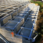 WPC Aluminium Unterkonstruktion Treppe LED Lichtschlauch
