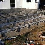 WPC Aluminium Unterkonstruktion Treppe