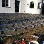 WPC Treppe Aluminium Unterkonstruktion