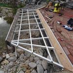 WPC Steg Aluminium Unterkonstruktion