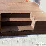 WPC Treppe Montage